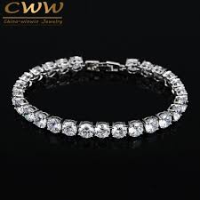 white gold plated charm bracelet images Cwwzircons 2017 latest design white gold color aaa round 0 5 jpg