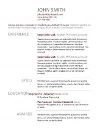 Best Professional Resume Templates by Free Resume Templates Simple Job Illustration Concept Of