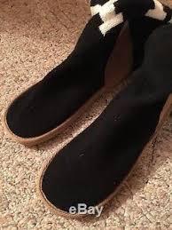 black sweater boots victorias secret pink mukluk black white knee high sweater boots 7