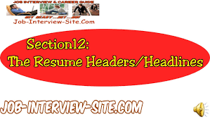 Best Resume Headline For Experienced by Resume Headers And Headlines How To Write Good Resume Headlines