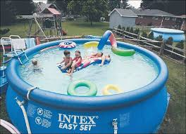 Pool In The Backyard by Inflatable Pools