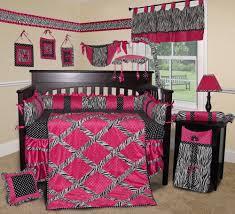 Pink And Black Crib Bedding Sets Baby Boutique Pink Zebra 15 Pcs Nursery Crib Bedding Set