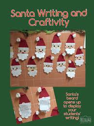 santa writing and craftivity santa crafts students and teaching