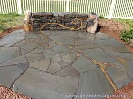 How To Build A Stone Patio by Flagstone Patios Devine Escapes