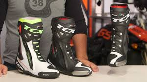 sportbike racing boots tcx rt race pro boots review at revzilla com youtube