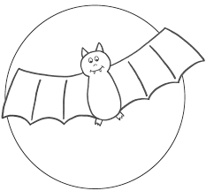 printable halloween bat coloring template