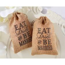 burlap favor bags kate aspen eat drink be married fav bags bridal