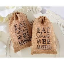 burlap favor bags kate aspen eat drink be married fav bags bridal