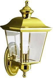 brass outdoor lighting lifetime finish kichler 9712 lifetime finish bay shore 1 light 16 outdoor wall