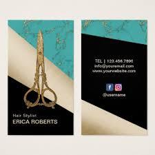 Business Cards Hair Stylist Hairstylist Businesscards Hair Salon Vintage Gold Scissor