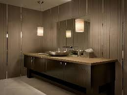 stylish modern bathroom design with wooden wall and modular wooden