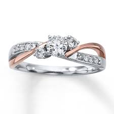 two engagement ring wedding rings two tone band gold engagement rings