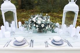 ice blue table runner picture of grey chargers an ice blue table runner and a pale green