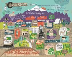 map of colorado springs print 11 x 14 by agirlandherbrush