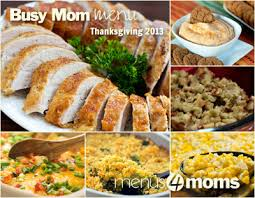 the thanksgiving dinner menu for 2013 with recipes note