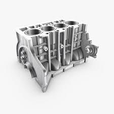 4 cylinder engine 3d generic 4 cylinder engine block cgtrader