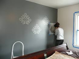 wall stencils for bedroom remodelaholic stenciled wall master bedroom