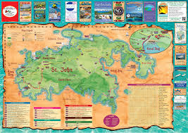 Map Of The Virgin Islands Interactive Map Of St John Us Virgin Islands Island Treasure Maps