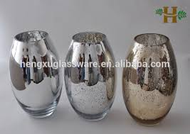 Silver Vase Wholesale Wholesale Shimmer Silver Plating Glass Vase Buy Silver Plating
