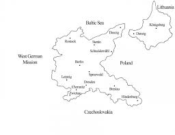 Breslau Germany Map by The East German Mission Religious Studies Center