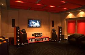 Modern Tv Room Design Ideas Decorations Attractive Small Home Theater Room Design Ideas Red