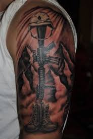 amazing black soldier tattoo on arm tattoomagz