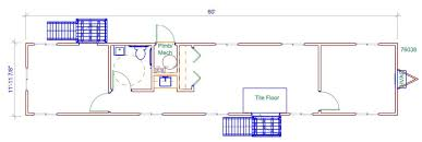 office floor plan sles 12 x 64 sales office with 1 restroom and 2 private offices pac van