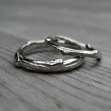 wedding band sets twig branch wedding band set kristin coffin jewelry