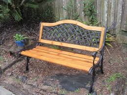 Wrought Iron Bench Wood Slats This Is A Cast Iron Bench That I Refurbished I Installed All New