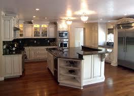 kitchen fluffy interior black cream stone kitchen island and