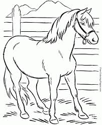 horse coloring pages sheets and pictures with coloring page