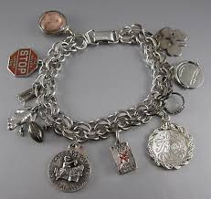 antique charm bracelet charms images Vintage charm bracelet with 11 charms jpg