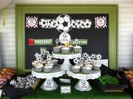 football party decorations interior design best soccer themed birthday party decorations