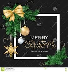vector illustration of christmas card with frame christmas