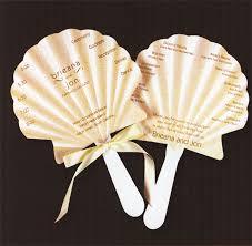 Diy Fan Wedding Programs Kits Absolutely Love These Sea Shell Wedding Program Fans Wedding