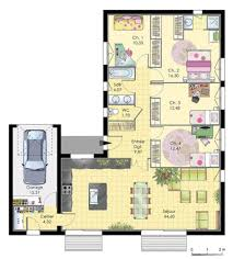 plan maison plain pied en l 4 chambres plan maison plain pied 4 chambres avec suite parentale