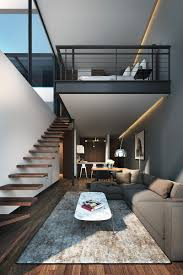 Livingroom Design by Small Homes That Use Lofts To Gain More Floor Space Living Room