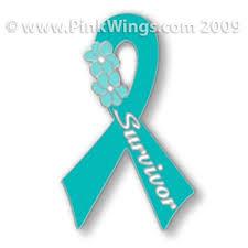 teal ribbon teal ribbon survivor pin