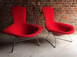 Armchairs Andrew Bird Lyrics Vintage High Back Diamond Bird Chairs By Harry Bertoia For Knoll