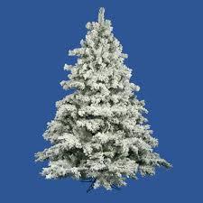 10 flocked alaskan artificial tree unlit