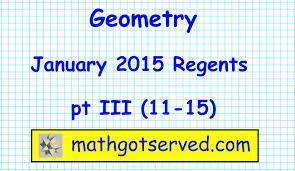 Glide Reflection Worksheet January 2015 Geometry Regents Pt Iii 11 15 Common Core Algebra
