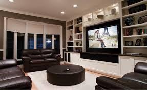 livingroomtheaters com wall flatscreen tv brown small table
