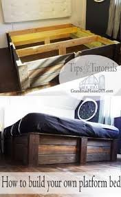 diy platform bed with floating night stands platform beds