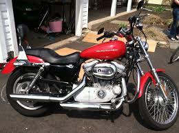 2004 harley davidson xl883c sportster 883 custom sierra red