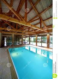 Build My House Interior Beautiful Swimming Pool Inside House Stock Photography