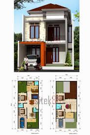 desain rumah lebar 6 meter desain rumah minimalis 2 lantai lebar 7 meter gambar foto desain rumah