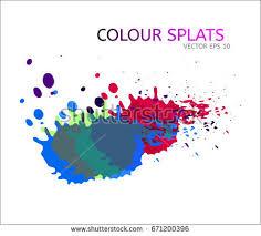 vector color splats graphic paint splatter stock vector 710633230