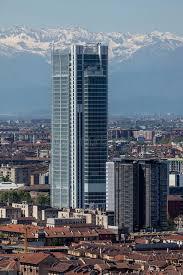 intesa banking torre intesa sanpaolo in turin italy editorial photography