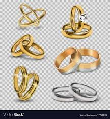 couples rings gold images Wedding realistic 3d couples rings gold and silver jpg