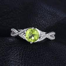 white topaz rings images Classic infinity peridot white topaz ring 925 sterling silver jpg